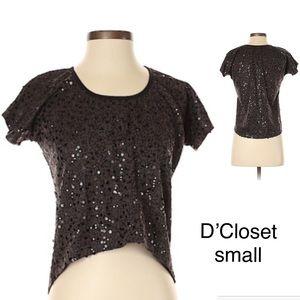 🔴3/$15🔴 d'closet Sequin Short Sleeved